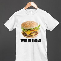 cheeseburger 'merica reg tee - glamfoxx.com - Skreened T-shirts, Organic Shirts, Hoodies, Kids Tees, Baby One-Pieces and Tote Bags