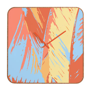 Rosie Brown Art Deco Palms Custom Clock