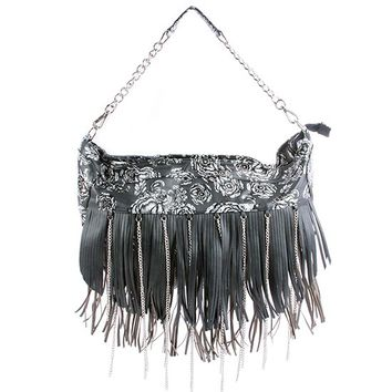 """Night a Light"" Handbag by Iron Fist (Black)"
