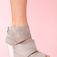 Coraline Platform Wedge - Gray in  Shoes at Nasty Gal