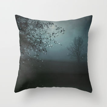 Song of the Nightbird Throw Pillow by Monika Strigel | Society6