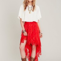 Free People Womens FP X  Dancin with Myself Skirt - Cayenne,