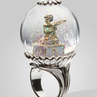 FredFlare.com - Disney Couture Tinkerbell Snow Globe Ring - Tinkerbell Ring
