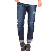 Flying Monkey - Vintage Washed Dark Boyfriend Jeans
