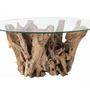 Kingston Natural Driftwood Oval Glass Cocktail Table from Arteriors Home