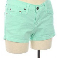 SWEET PASTEL COLORED DENIM SHORTS