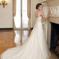 Buy Stunning Lace A-line Sweetheart Neckline Wedding Dress