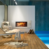 Ceramic Fireplace Mantel VAN GOGH Wood Collection by MCZ GROUP