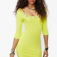 Gold Rush Dress - Neon Yellow in  Clothes Ours Only at Nasty Gal