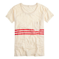 LINEN TEE IN TRIPLE STRIPE