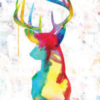 Oh Deer - 60x90cm giclee canvas print - ready to hang by Urban Road