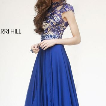 Embellished Open Back Gown by Sherri Hill