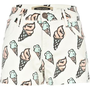 white ice cream print denim shorts - denim shorts - jeans - women - River Island