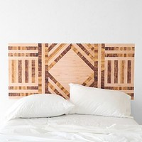 Wood Collage Headboard Wall Decal - Urban Outfitters