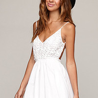Raga Crochet Dress - Womens Dress - White -