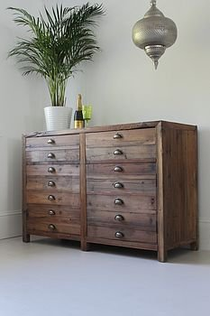 adela double rustic pine storage cabinet by out there interiors | notonthehighstreet.com