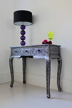 norelle silver black embossed dressing table by out there interiors | notonthehighstreet.com