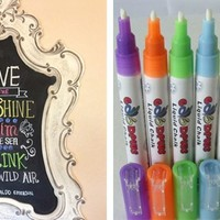 Set of 8 Chalkboard/Dry Erase Pens