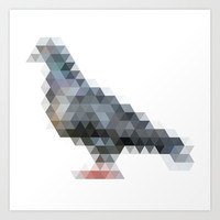 triangular pigeon. Art Print by Louis-philippe