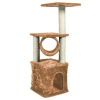 "Pingkay Deluxe Cat Tree 36"" Condo Furniture Scratching Post Pet House Play Toy Brown Color"