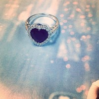Chocolate CZ Heart Ring @ Inspired Silver