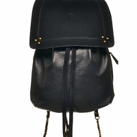 Jerome Dreyfuss florent backpack grain caviar noir