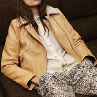 Roseana up shearling jacket nude