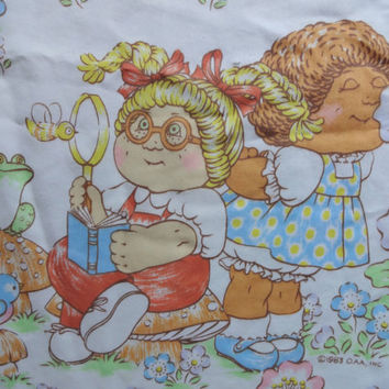 Vintage Cabbage Patch Doll Twin Flat Sheet with Pillowcase