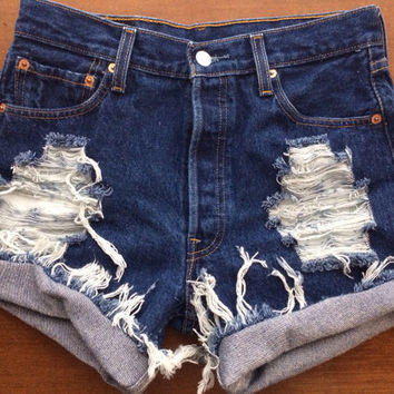 Size 6 Levi 39s High Waisted Jean Shorts
