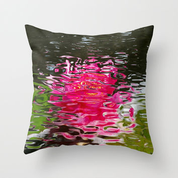 Pastel Water Ripples Throw Pillow by MargaretNewcombArt