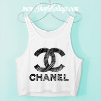 Draw Me A Chanel Crop Tank Top