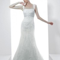 Romantic Empire Waist Strapless Wedding Gown Bridal Dress With Applique And Bead