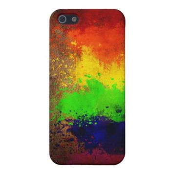 Rainbow Paint Splatter