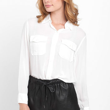 The Perfect Shirt Without Epaulettes in Dirty White