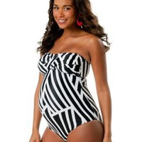 Motherhood Maternity: Convertible Straps Maternity One Piece Swimsuit