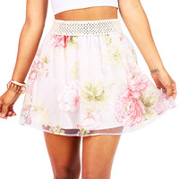 Gardenia Overlay Skirt | Skirts at Pink Ice