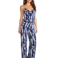 Haute Hippie Wide Leg Cami Jumpsuit in Navy