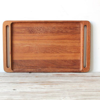 Large Dansk Teak Modern Serving Tray