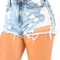 Escape From New York Shorts: Denim