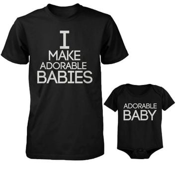 365 In Love I Make Adorable Babies Menx27s T-Shirt and Adorable