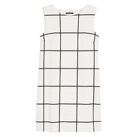 Buy Mango Check Ponte Dress, Natural White | John Lewis