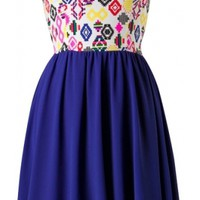 Blue Sweetheart Dress