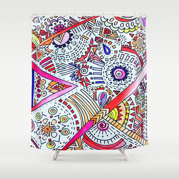 Burst Shower Curtain by DuckyB (Brandi)
