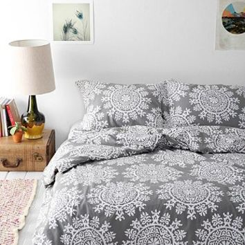 Plum   Bow Maya Medallion Duvet Cover  Urban Outfitters