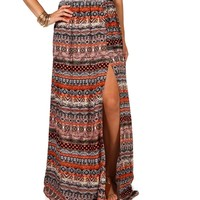 Mixed Print Belted Side Slit