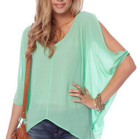 Batty Chiffon Top in Yellow :: tobi