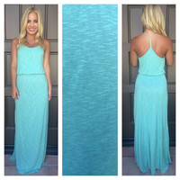 Heather Mint Azalea Maxi