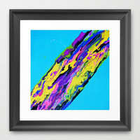 Go With the Flow Framed Art Print by Erin Jordan