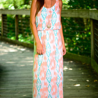 This Love Maxi, Peach/Green