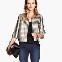 H&M - Short Jacket - Black/Striped - Ladies